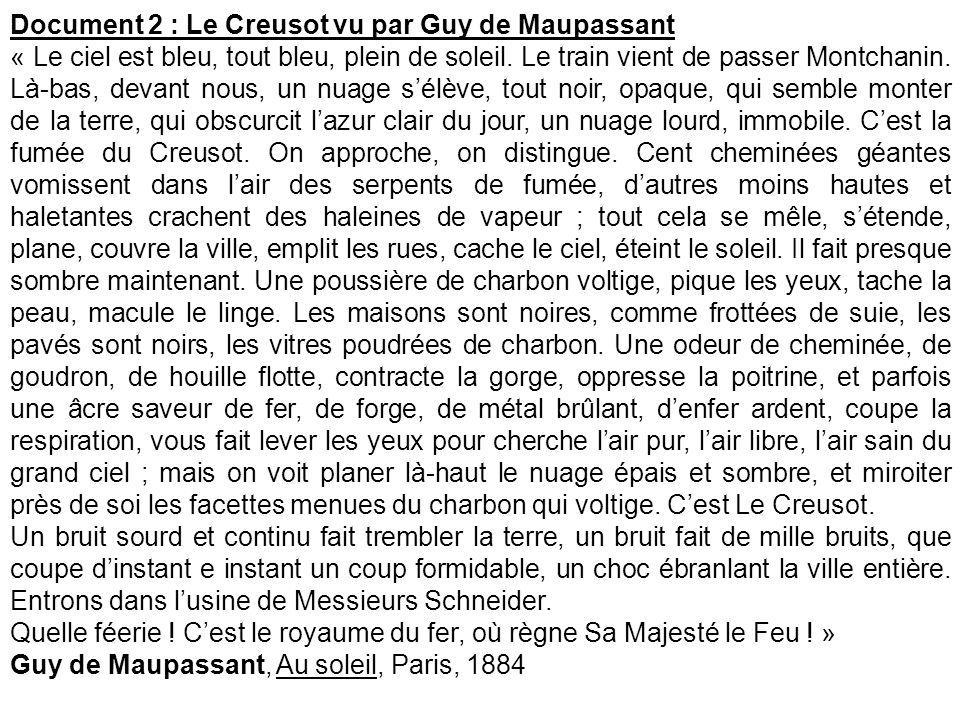 Document 2 : Le Creusot vu par Guy de Maupassant