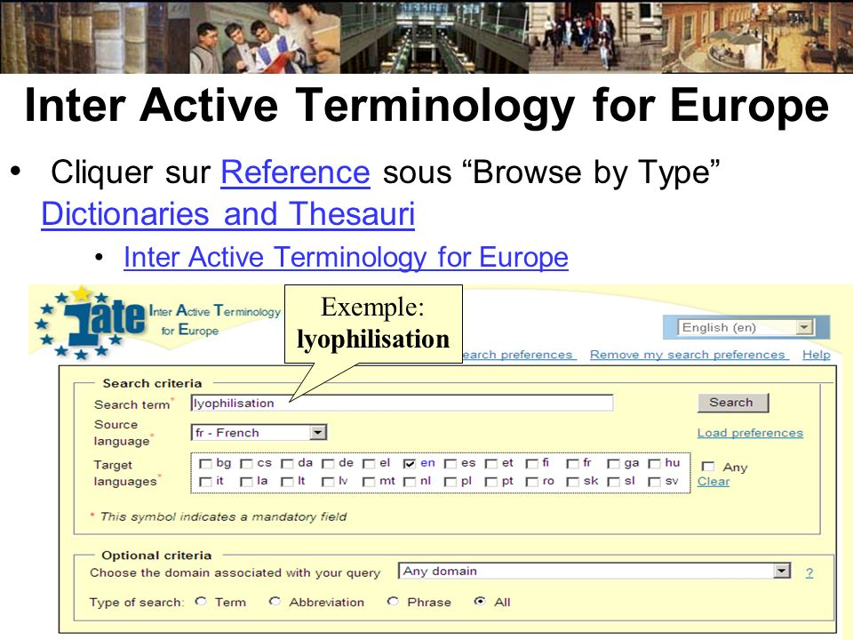 Inter Active Terminology for Europe