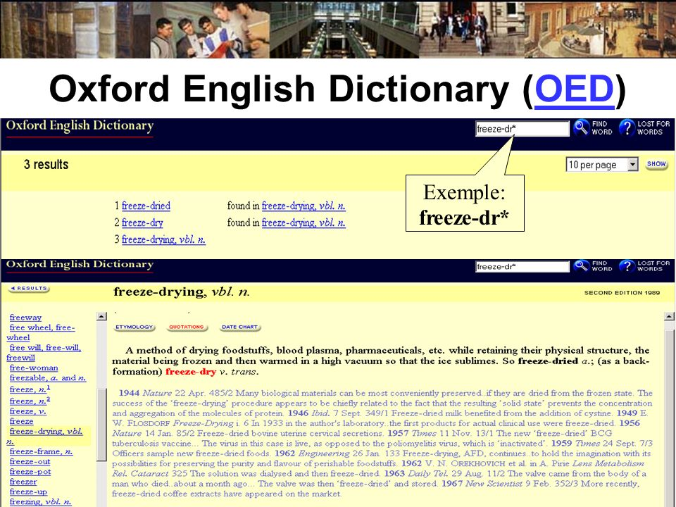 Oxford English Dictionary (OED)