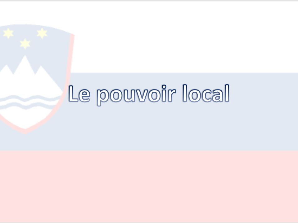 Le pouvoir local