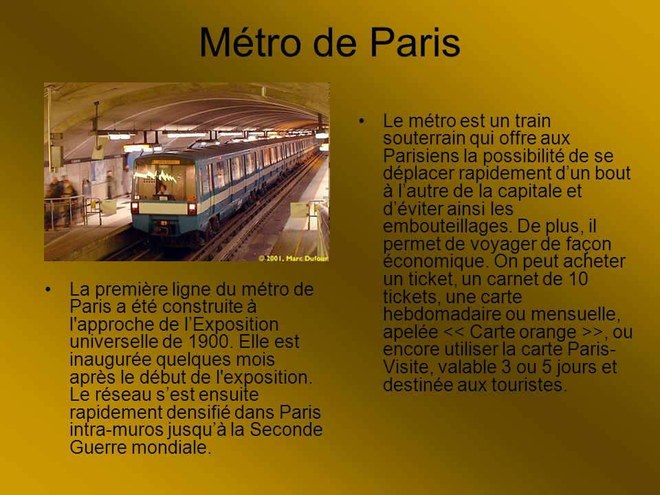 Métro de Paris