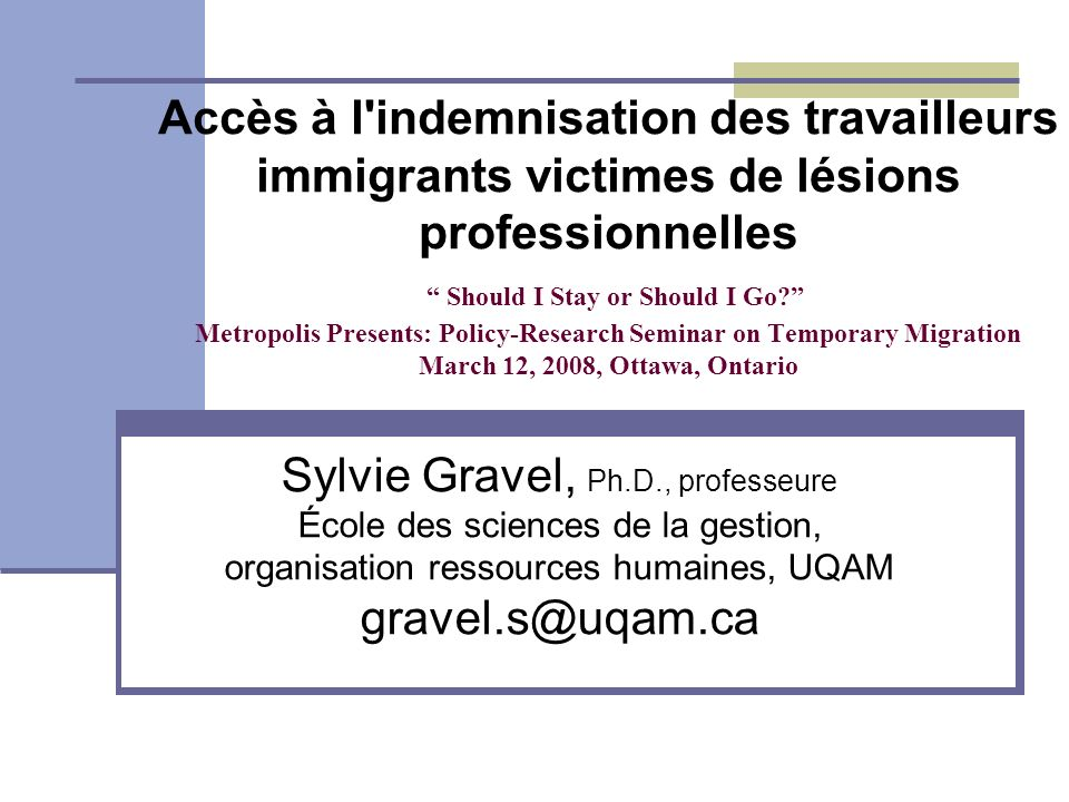 Sylvie Gravel, Ph.D., professeure gravel.s@uqam.ca