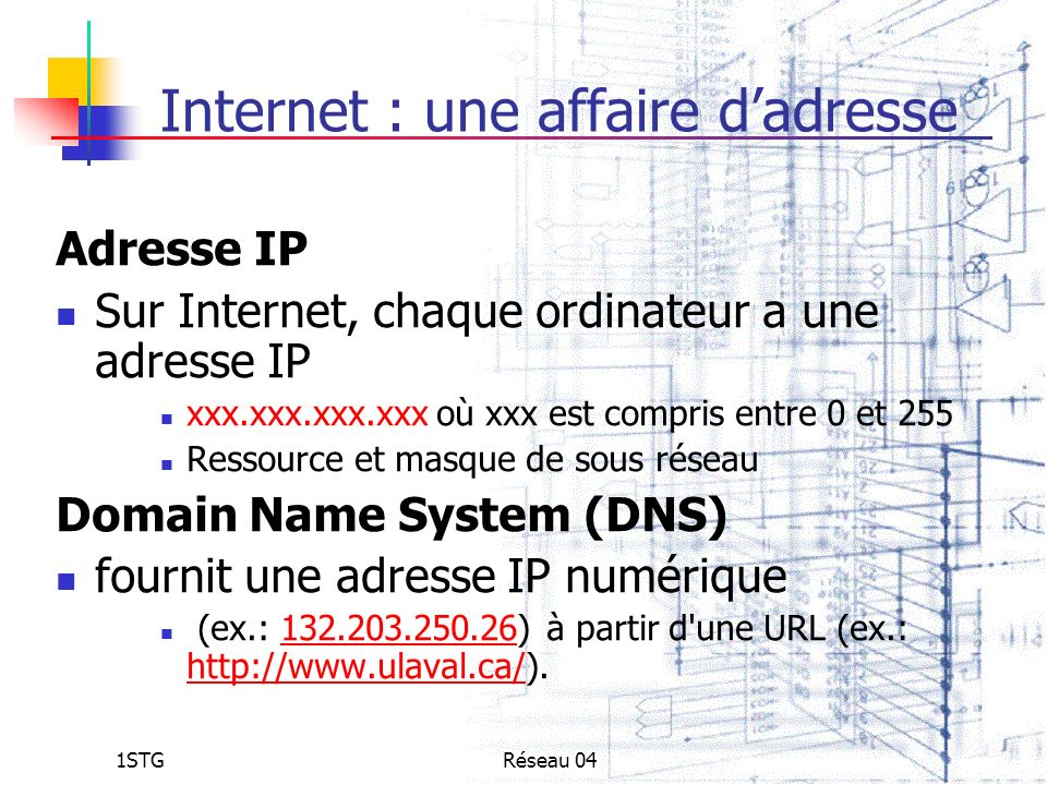 Internet : une affaire d'adresse