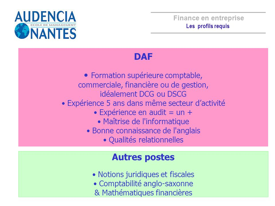 Formation supérieure comptable,