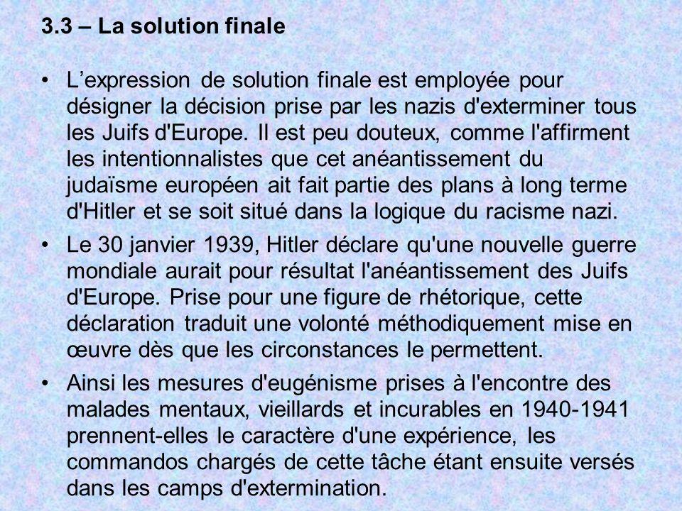 Dissertation sur la solution finale