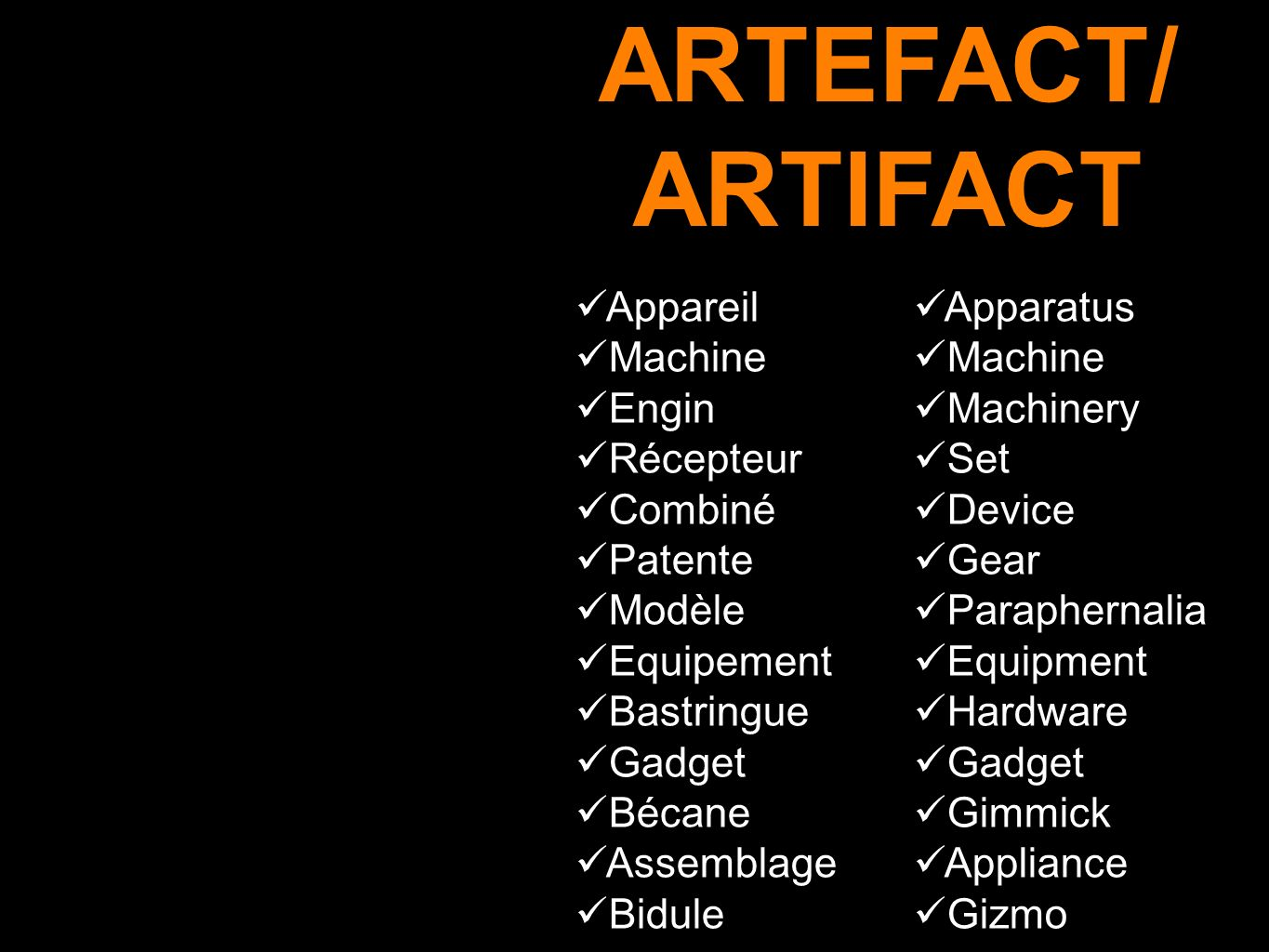 ARTEFACT/ ARTIFACT Appareil Machine Engin Récepteur Combiné Patente