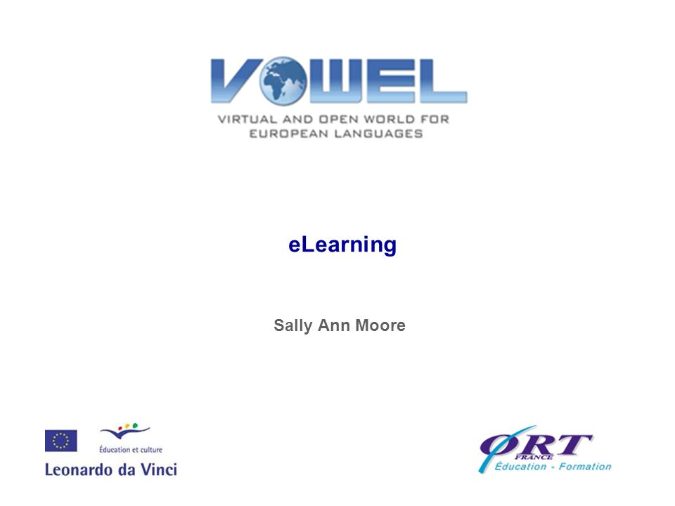 eLearning Sally Ann Moore