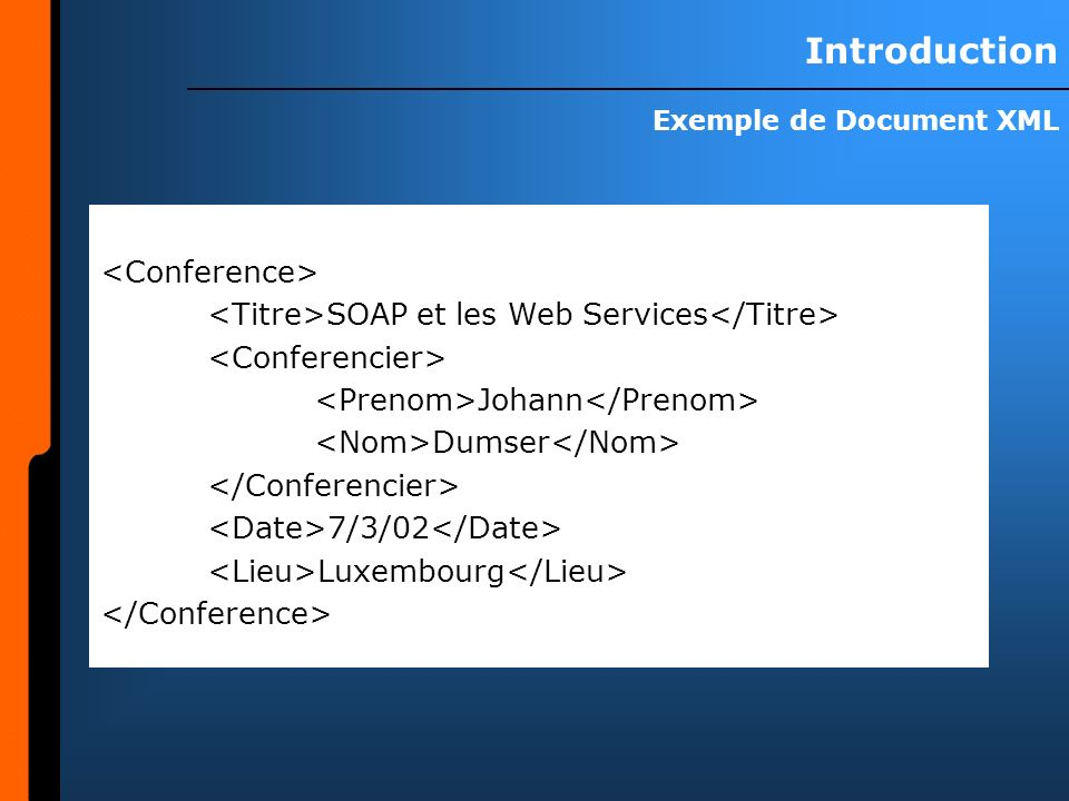 Exemple de Document XML