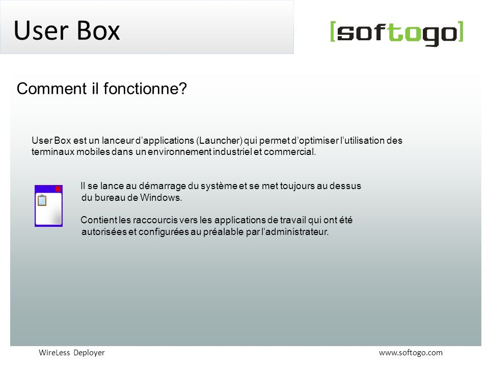 User Box Comment il fonctionne