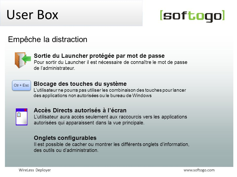 User Box Empêche la distraction