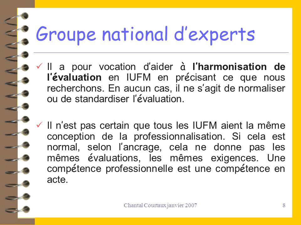 Groupe national d'experts