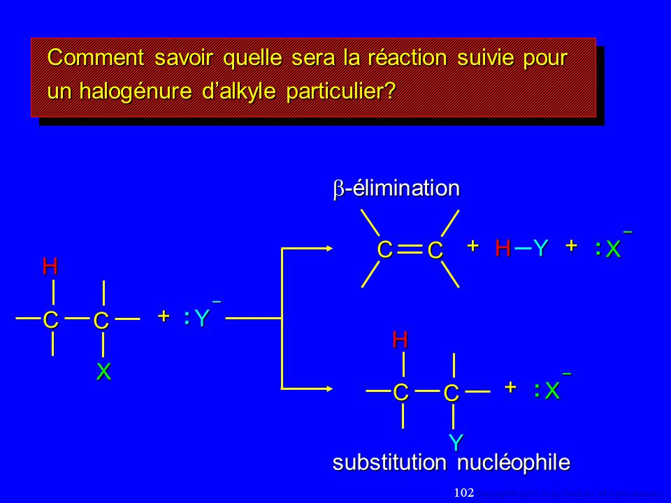 substitution nucléophile