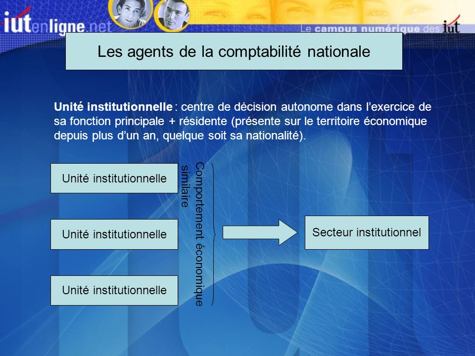 Les agents de la comptabilité nationale