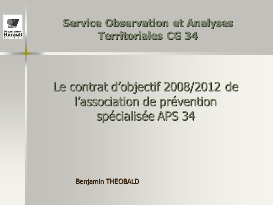 Service Observation et Analyses Territoriales CG 34