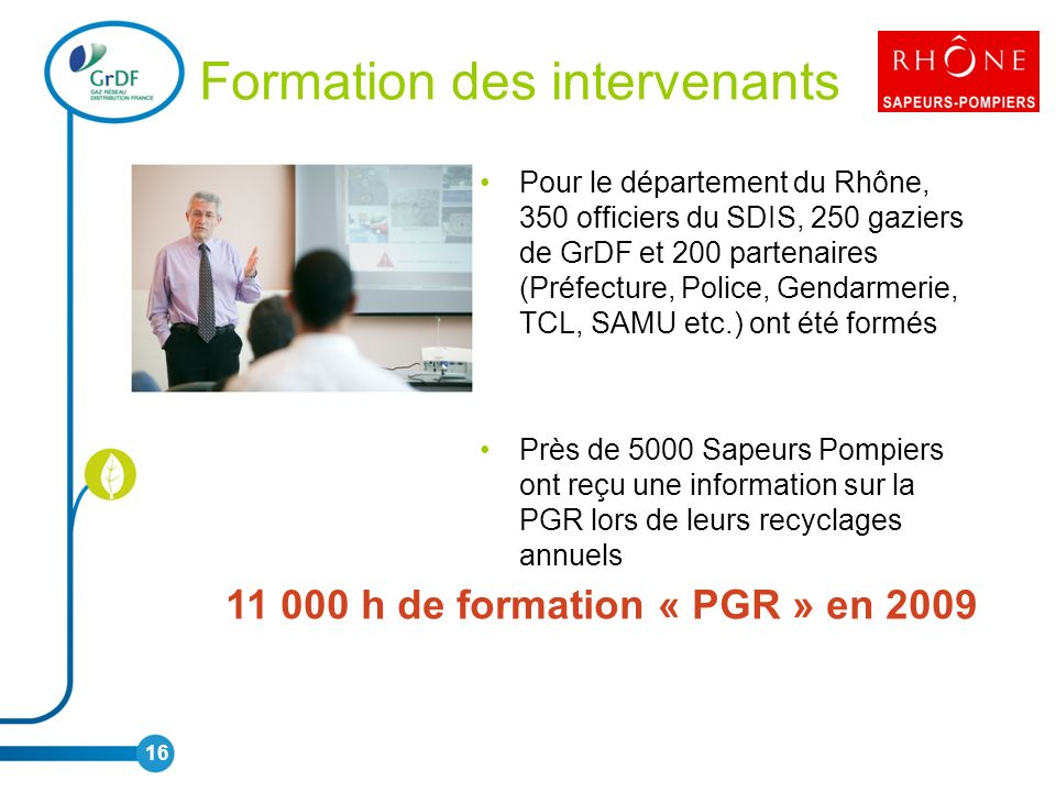 Formation des intervenants