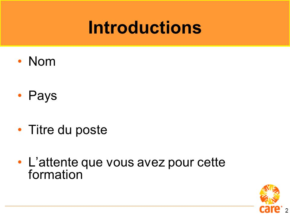Introductions Nom Pays Titre du poste