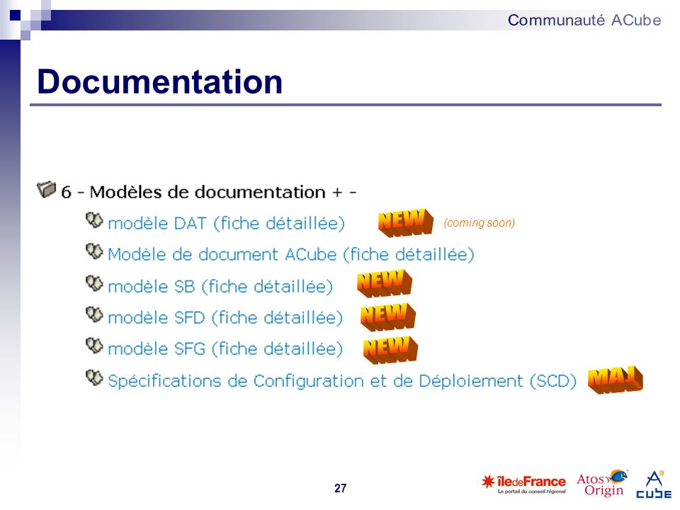 Documentation NEW (coming soon) NEW NEW NEW MAJ 27