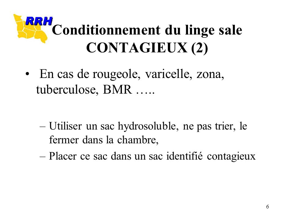 Conditionnement du linge sale CONTAGIEUX (2)