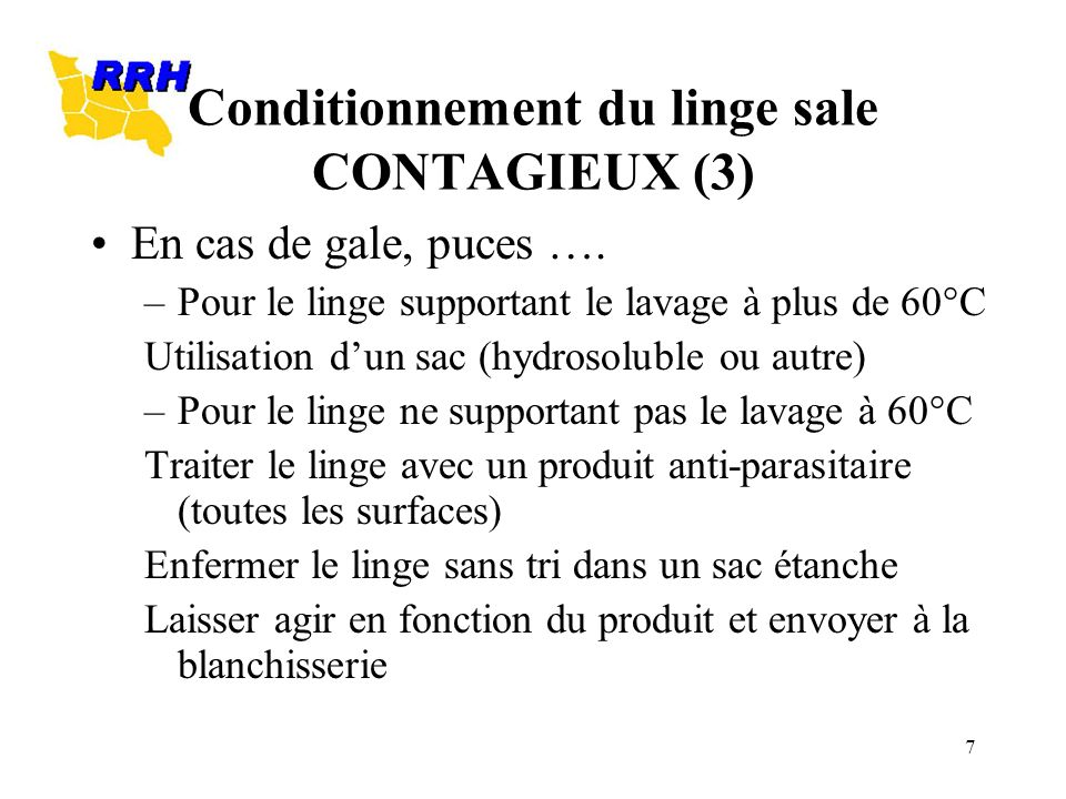 Conditionnement du linge sale CONTAGIEUX (3)
