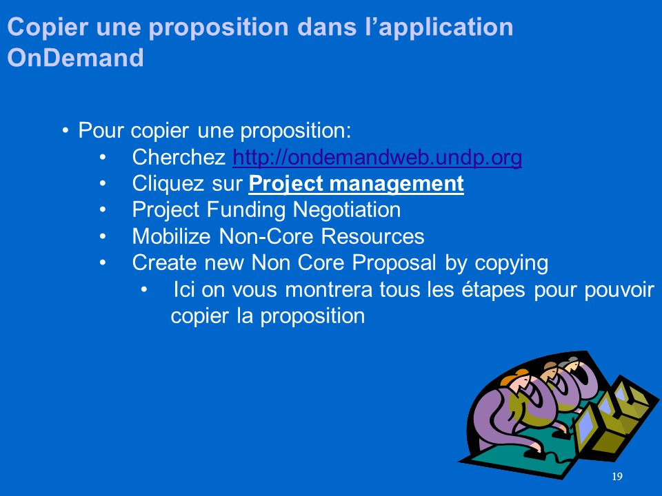 Copier une proposition dans l'application OnDemand