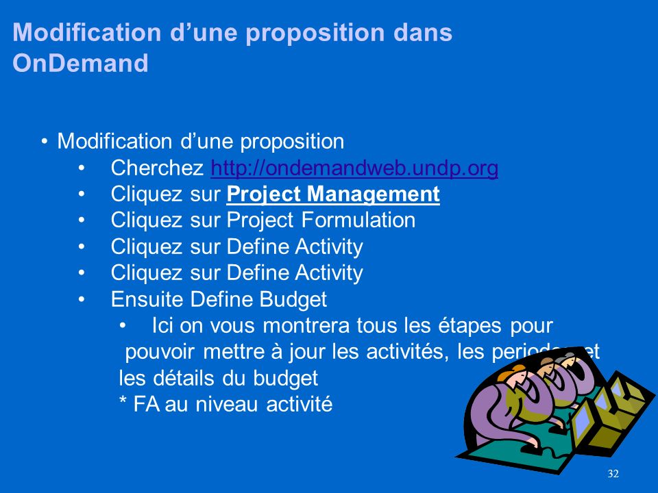 Modification d'une proposition dans OnDemand