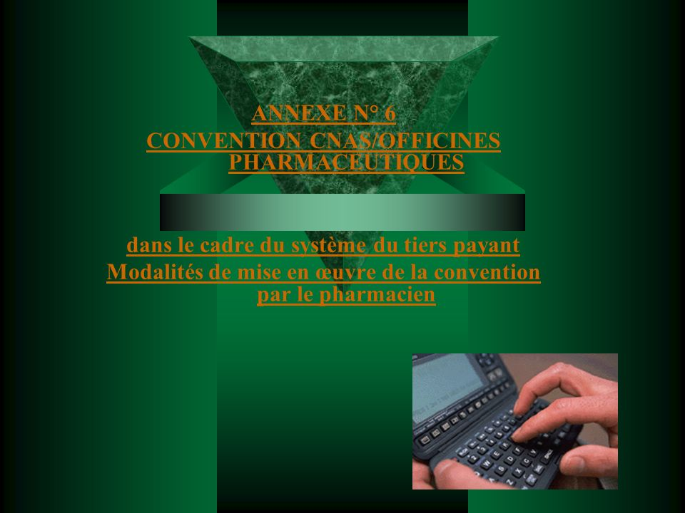 CONVENTION CNAS/OFFICINES PHARMACEUTIQUES
