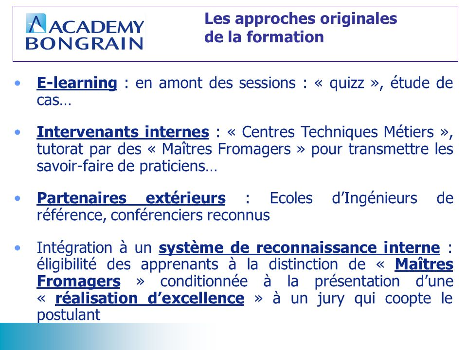 Les approches originales de la formation
