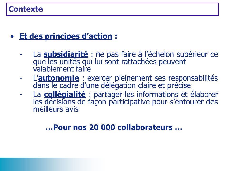 …Pour nos 20 000 collaborateurs …