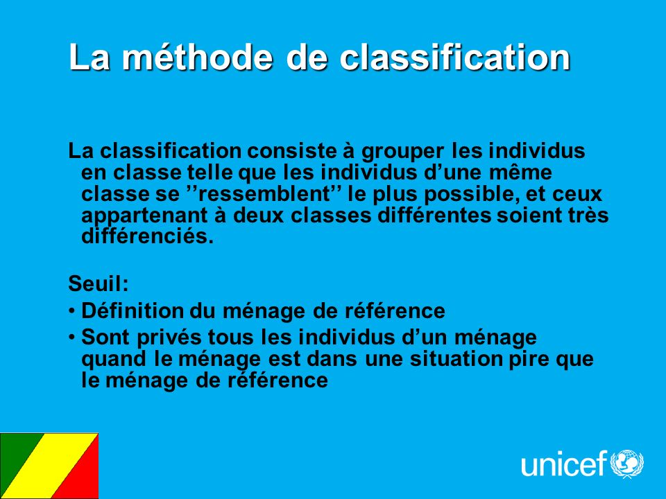 La méthode de classification