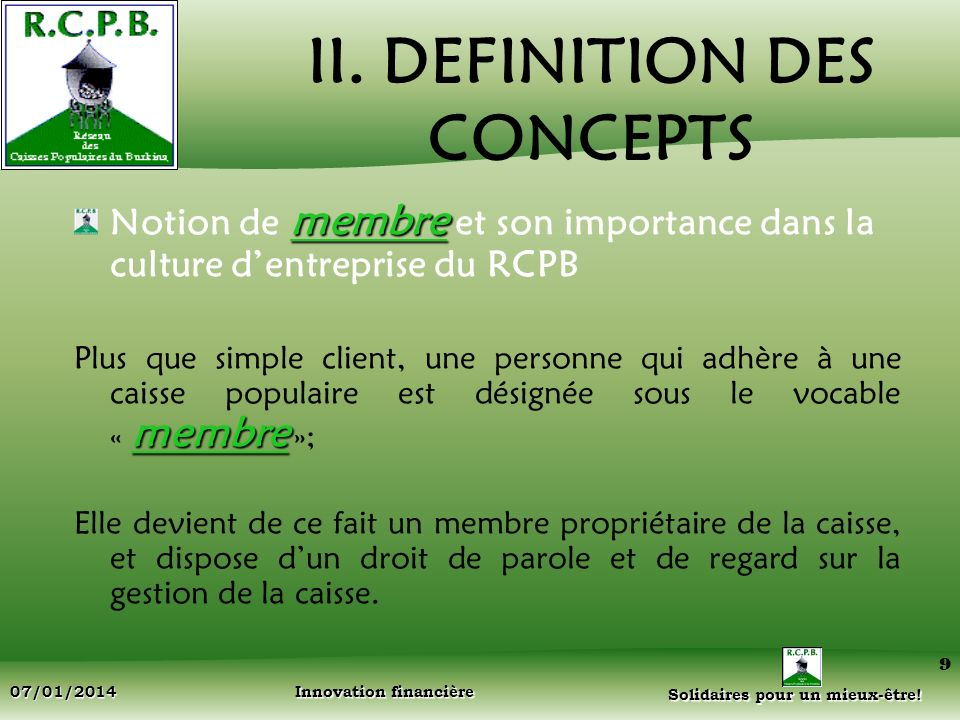 II. DEFINITION DES CONCEPTS