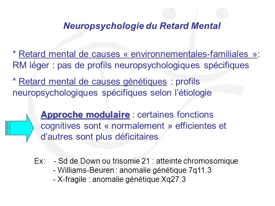 Neuropsychologie du Retard Mental