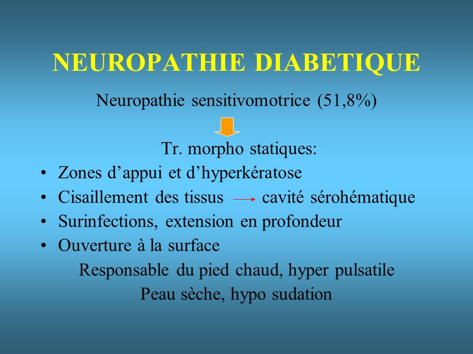 NEUROPATHIE DIABETIQUE