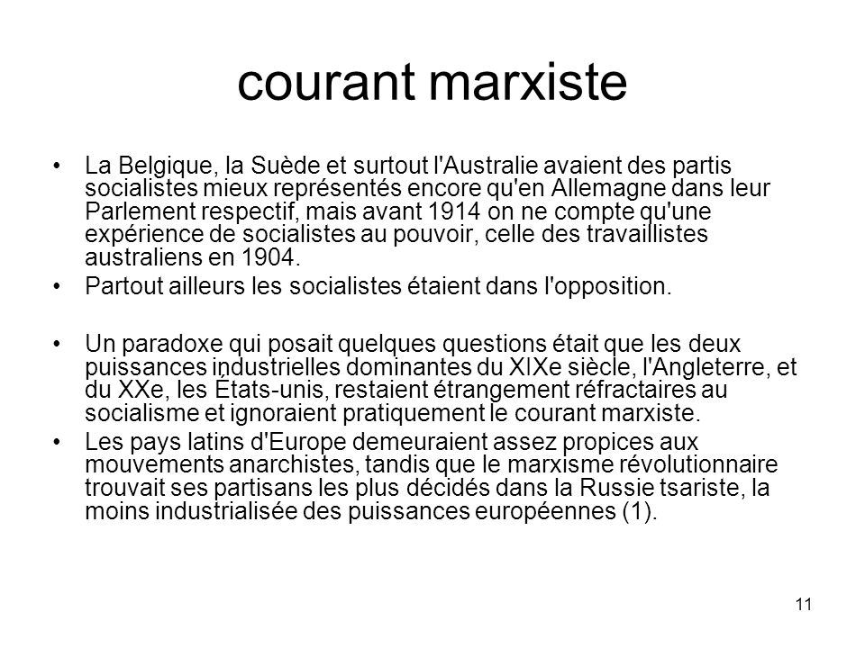 courant marxiste
