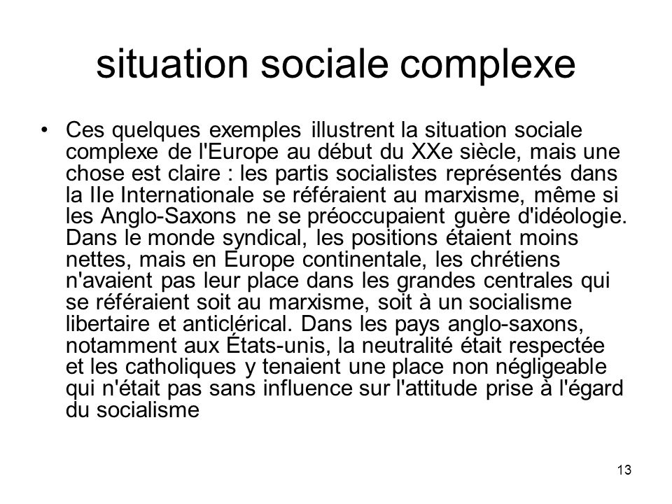 situation sociale complexe