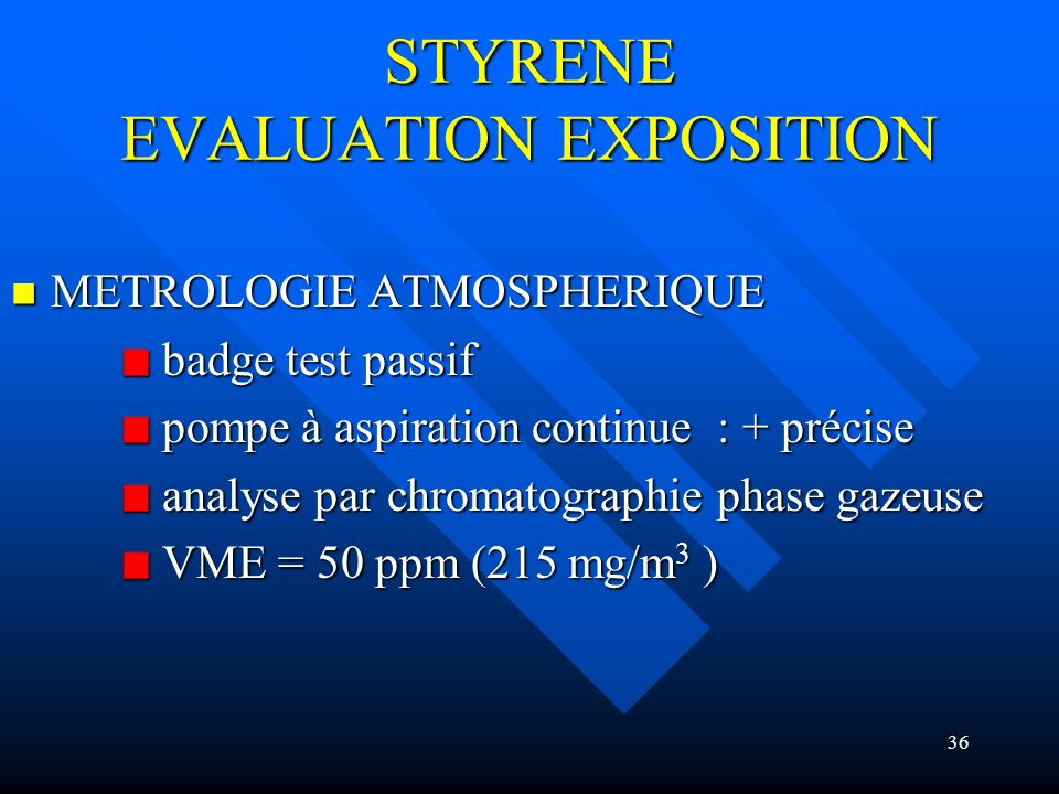 STYRENE EVALUATION EXPOSITION