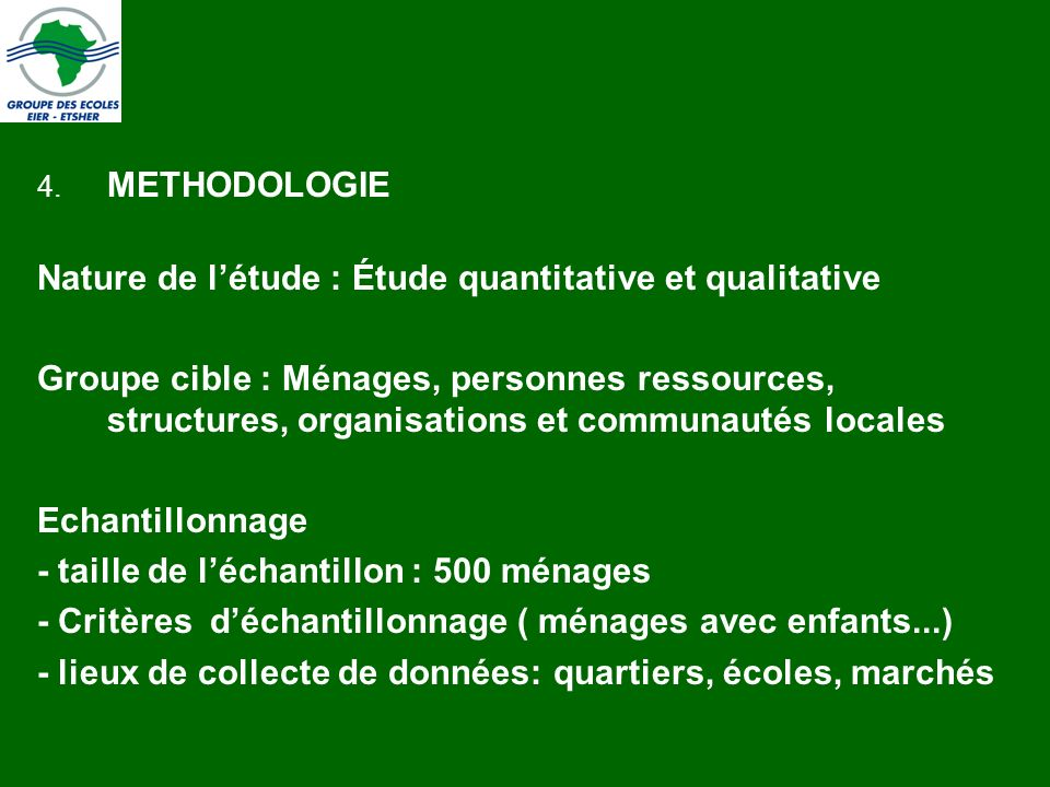 Nature de l'étude : Étude quantitative et qualitative
