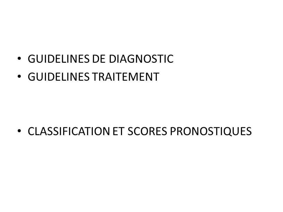 GUIDELINES DE DIAGNOSTIC
