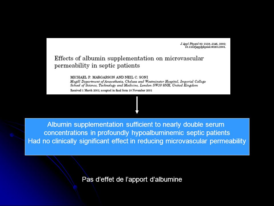 Albumin supplementation sufficient to nearly double serum