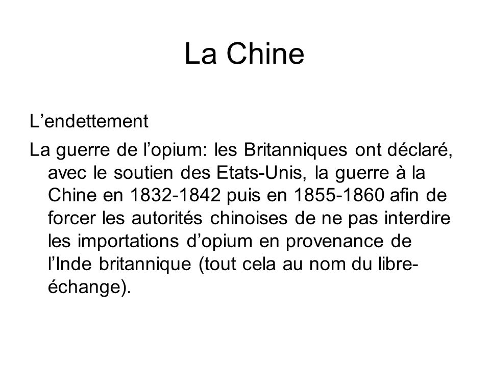 La Chine L'endettement
