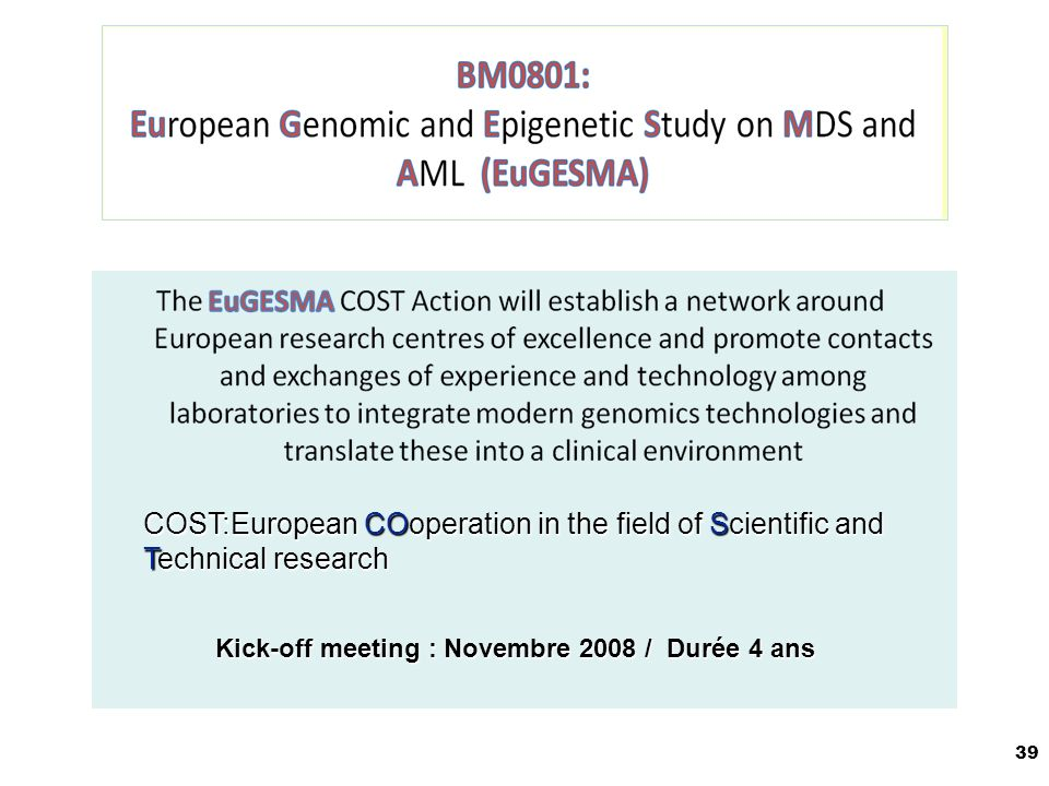COST:European COoperation in the field of Scientific and Technical research