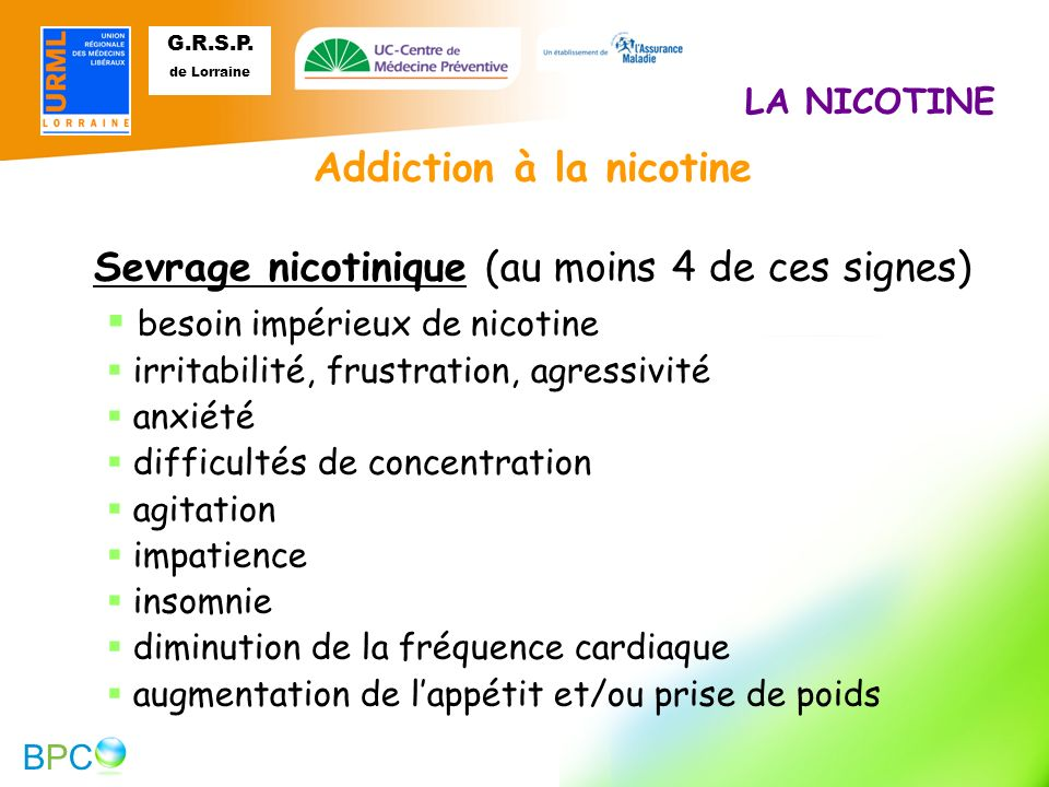 Addiction à la nicotine