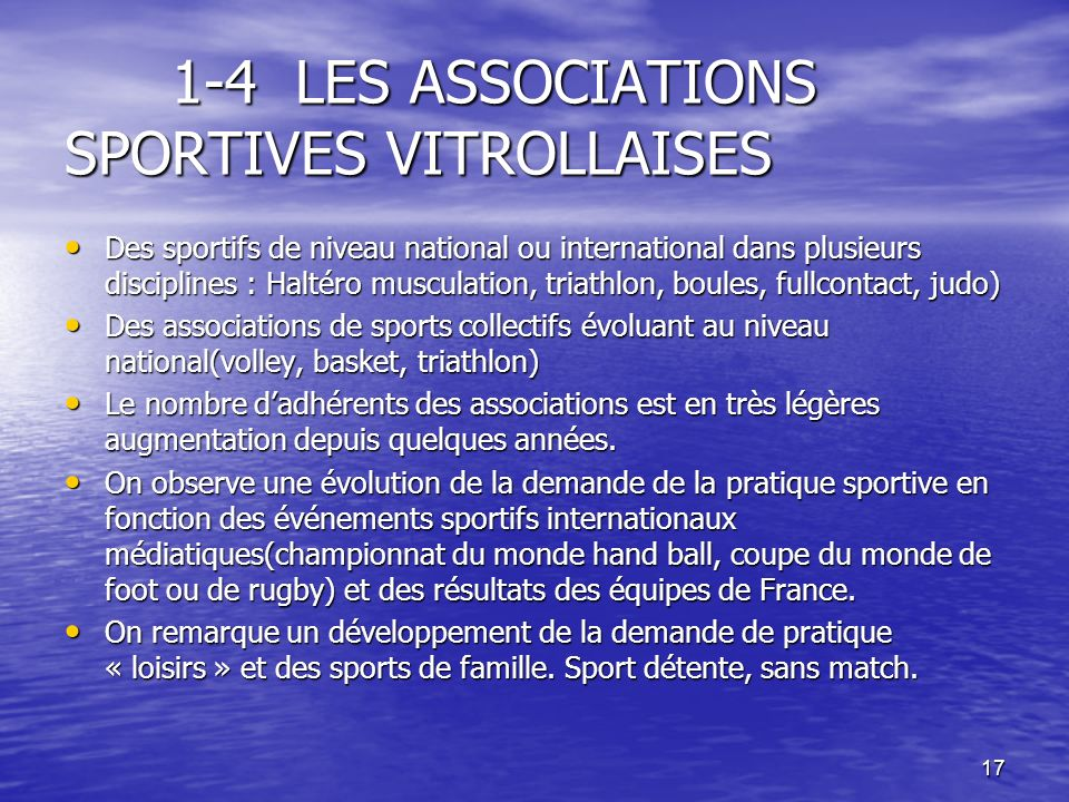 1-4 LES ASSOCIATIONS SPORTIVES VITROLLAISES