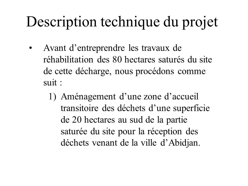 Description technique du projet