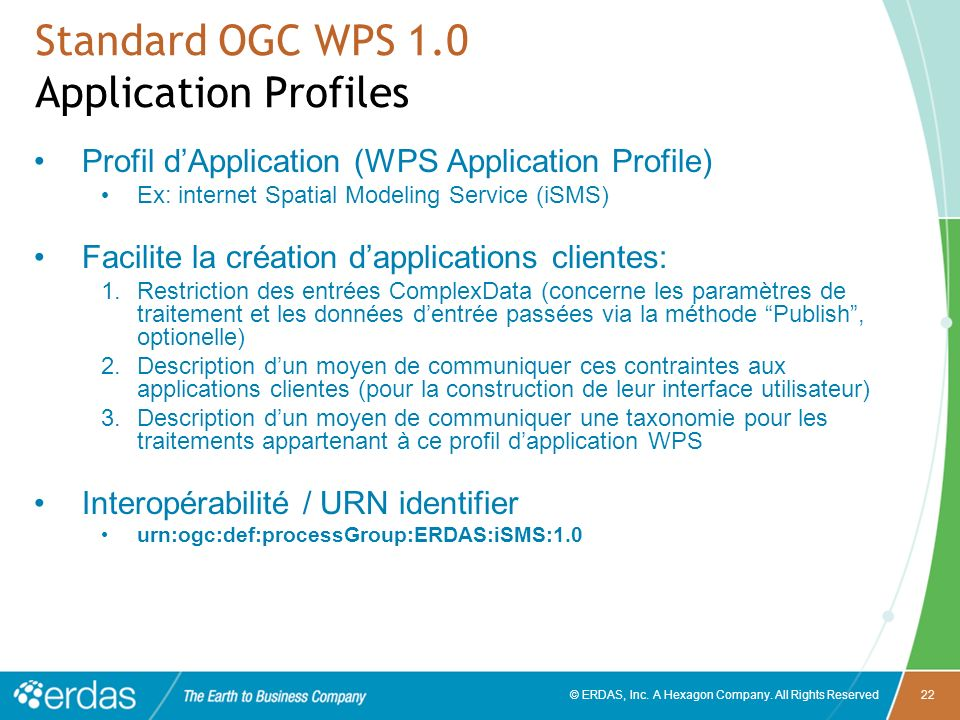 Standard OGC WPS 1.0 Application Profiles