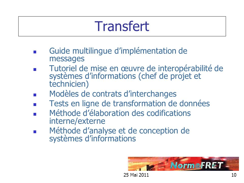 Transfert Guide multilingue d'implémentation de messages