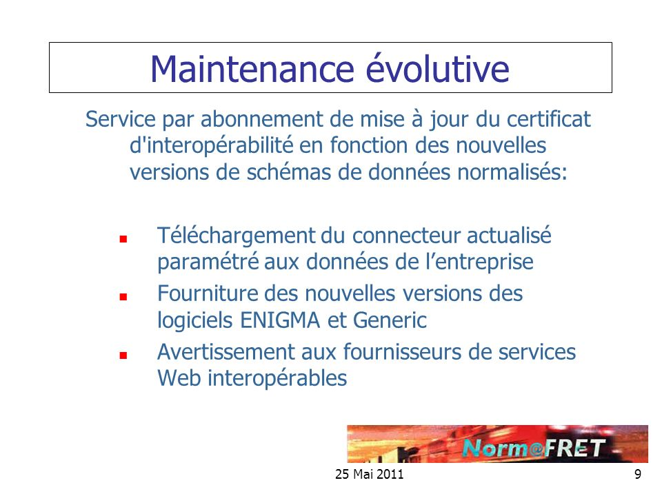 Maintenance évolutive