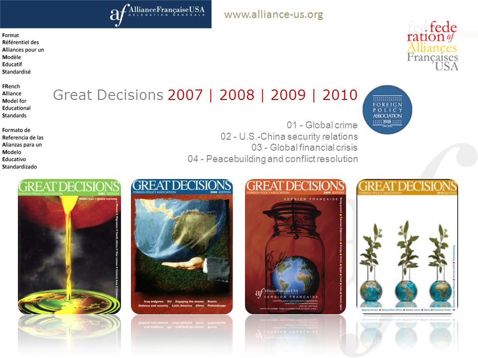 Great Decisions 2007 | 2008 | 2009 | Global crime