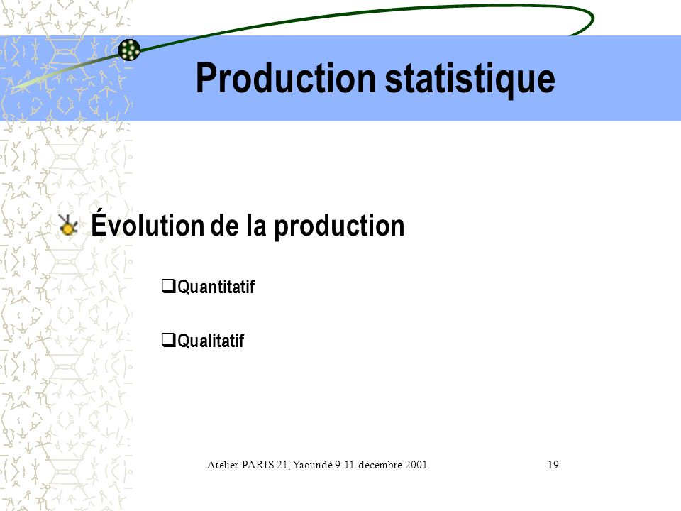 Production statistique