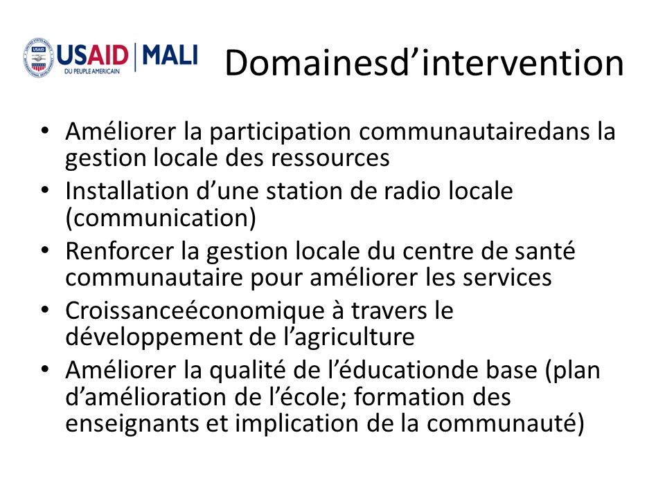 Domainesd'intervention