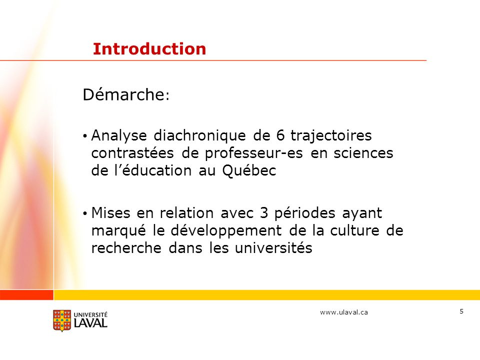 Introduction Démarche: